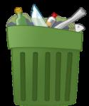 ikona kosza na śmieci